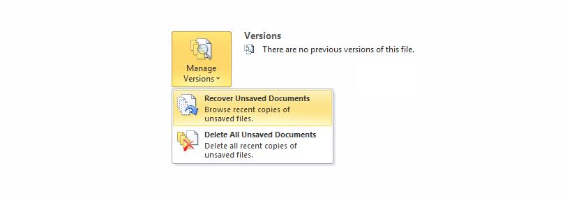 ذخیره خودکار | ریکاوری فایلها در ورد