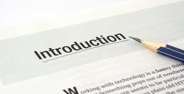 نگارش علمی مقدمه – Introduction